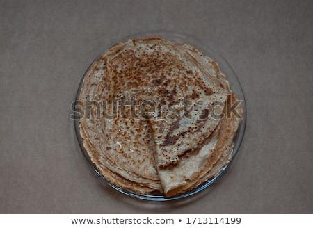 Pan pancake uova isolato trasparente Foto d'archivio © adamson