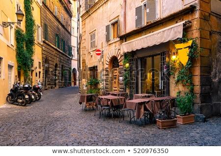 Utca Róma Olaszország 18 2016 kicsi Stock fotó © Givaga
