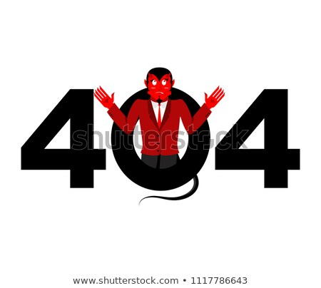 Error 404. Devil surprise. Page not found template for website.  Stock photo © popaukropa