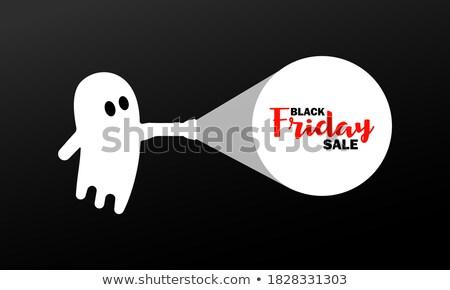 Stockfoto: Vector · banner · halloween · zwart · wit · stijl