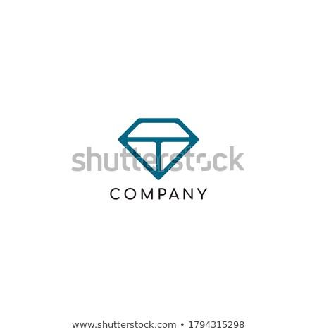 Magenta blu diamante lettera vettore Foto d'archivio © cidepix
