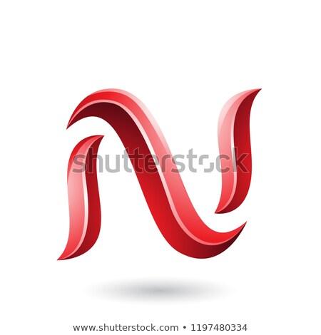 Vermelho serpente vetor Foto stock © cidepix