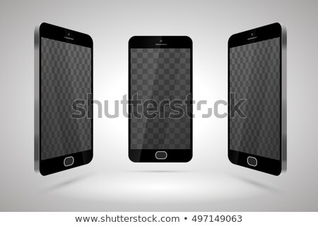 Three realistic glossy smartphones, mockup with transparent place for layout Stock photo © Evgeny89