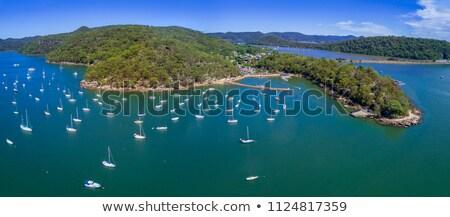 роскошь Австралия Motor лодках гор жизни Сток-фото © lovleah
