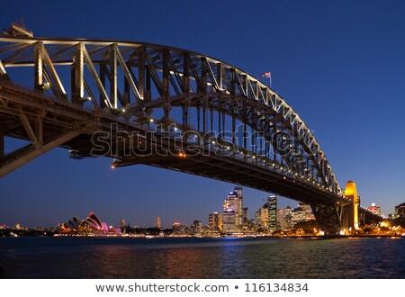 Sydney haven brug omhoog Blauw kleuren Stockfoto © lovleah
