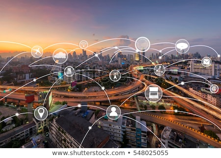 Big data, data analysis, computer and cloud computing line icons Stock photo © soleilc
