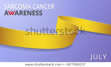 Сток-фото: осведомленность · неделя · реалистичный · желтый · лента · символ