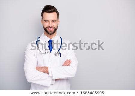 personnage · cardiologue · médecin · homme · femme · vecteur - photo stock © colematt