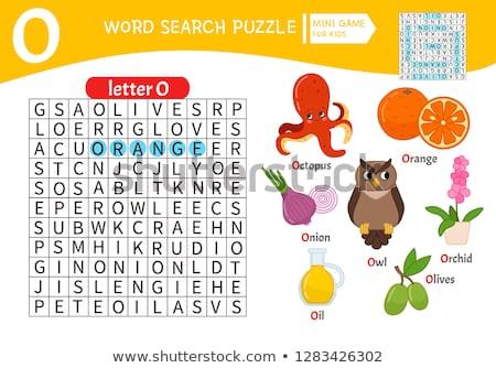 Owl for O Letter Cartoon Alphabet for Children Stock photo © robuart