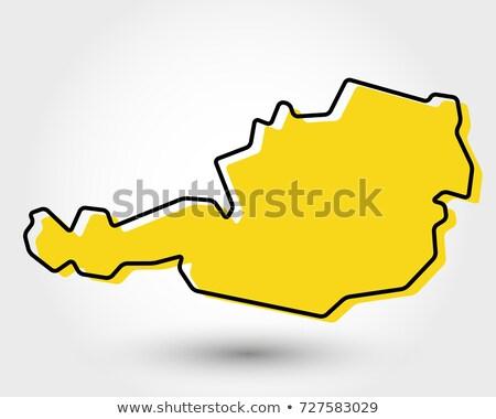 Oostenrijk gestileerde kaart icon vector element Stockfoto © blaskorizov