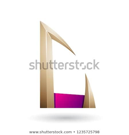 Magenta beige flecha carta vector Foto stock © cidepix