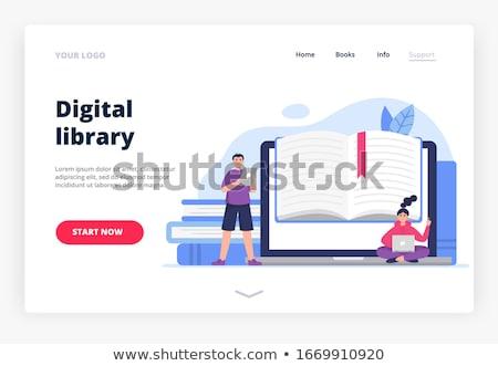 on-line · educação · moderno · colorido · projeto · estilo - foto stock © decorwithme