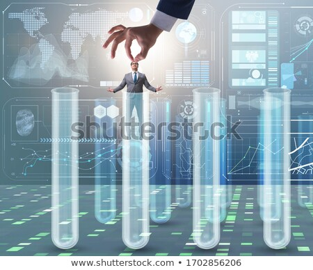 Artificial intelligence concept with businessman out of tube Stock photo © Elnur