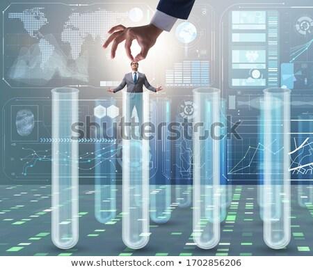 人工知能 · 人間 · サイバースペース · デジタル · バイナリコード - ストックフォト © elnur