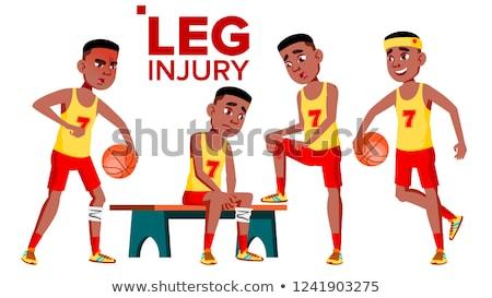 man · illustratie · mannelijke · atleet · lijden · been - stockfoto © pikepicture