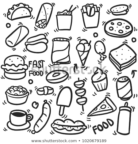 Hot Dog and Burrito Fast Food Vector Illustration Stock photo © robuart