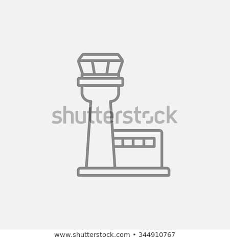 repülőtér · repülés · irányítás · torony · ikon · levegő - stock fotó © kyryloff