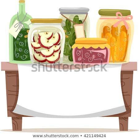 консервированный продовольствие Баннеры Ягоды овощей черника Сток-фото © robuart