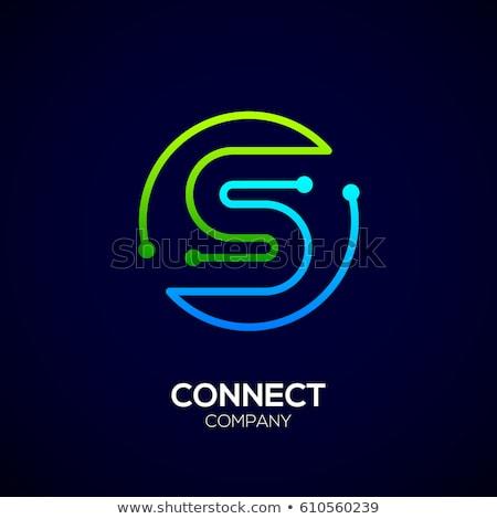 blue icon logo letter s circle vector symbol stock photo © blaskorizov