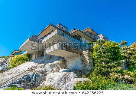 Stock photo: A big house made of rock