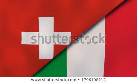 Two waving flags of Italy and switzerland Stock photo © MikhailMishchenko