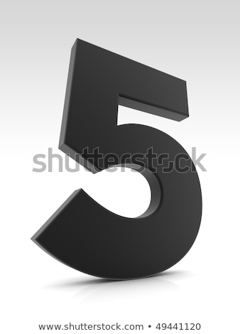 Black and white layered Number 5 FIVE 3D Stock photo © djmilic