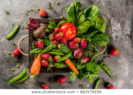 Healthy colorful food selection: fruit, vegetable, superfood Stock photo © Illia