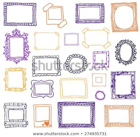 Hand drawn photoframes. Stock photo © netkov1