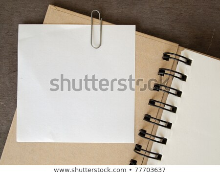 trombone · blanche · papier · écrit · affaires · fond - photo stock © nuttakit