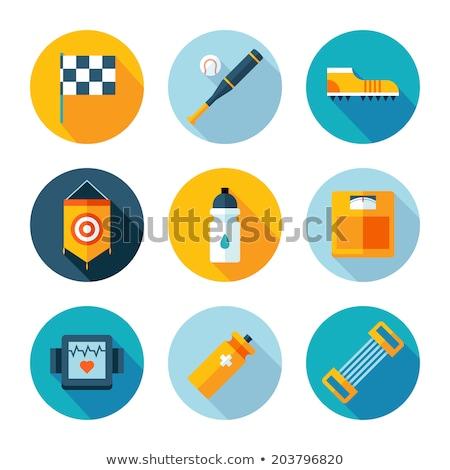 Ontwerp icon fitness uniform ui kleuren Stockfoto © angelp