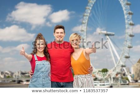 Feliz amigos balsa roda Foto stock © dolgachov