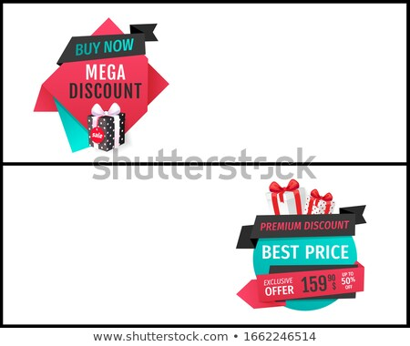 Mega Discount and Exclusive Products Web Pages Stock photo © robuart