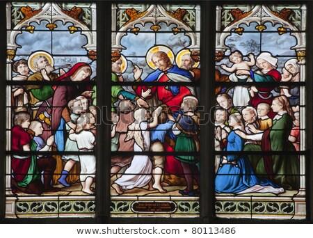 Mittelalterlichen Kirche gotischen Stil Architektur Paris Stock foto © artjazz