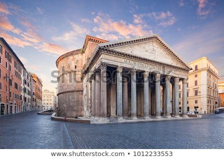 ősi Róma felhős napfelkelte Olaszország felhők Stock fotó © Givaga