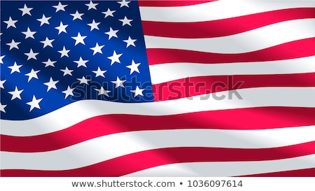 memorial day vector illustration with waving flag of united states of america stock photo © m_pavlov