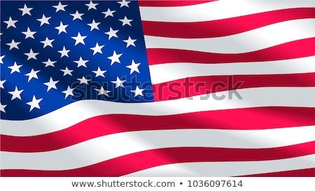 Gün bayrak Amerika Birleşik Devletleri Amerika imzalamak Stok fotoğraf © m_pavlov