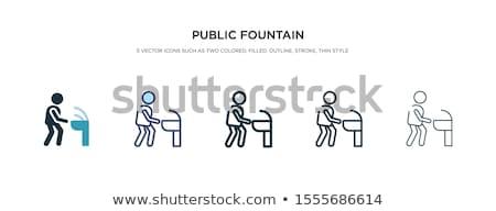 vector set of drinking water fountain Stockfoto © olllikeballoon