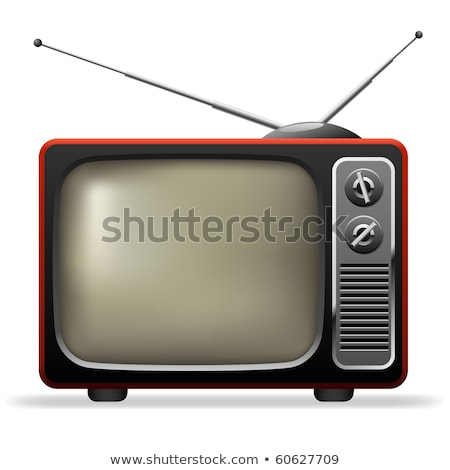 Stock photo: Television with Antenna Old Fashioned TV Set Icon