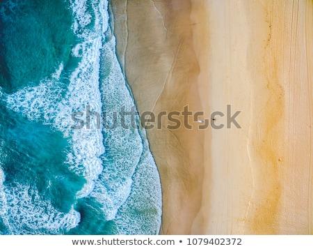 Luchtfoto strand illustratie kaart natuur zee Stockfoto © bluering
