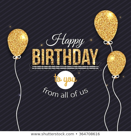 Birthday card template with paper party decoration Stock photo © cienpies