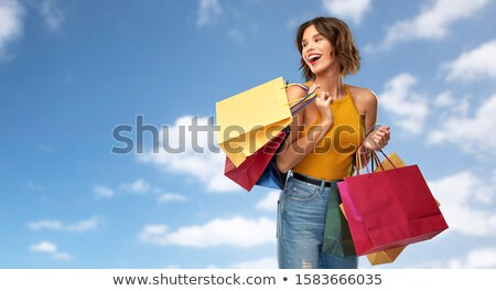 Veel hemel verkoop detailhandel Stockfoto © dolgachov
