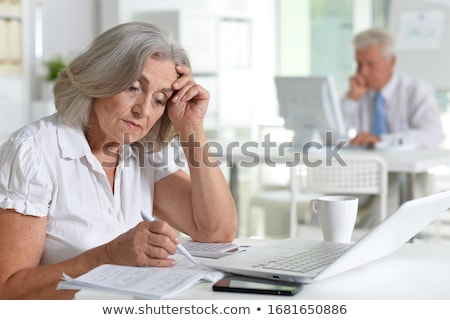people are working on marketing and financial issues Stock photo © sgursozlu