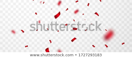 red confetti celebration carnival ribbons luxury greeting card vector illustration stock photo © olehsvetiukha