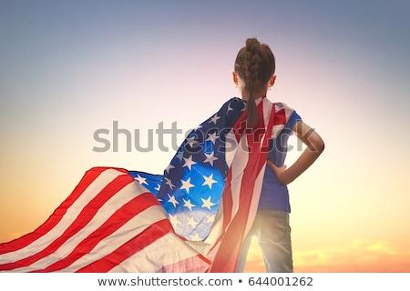 Hazafias ünnep boldog gyerek aranyos kicsi Stock fotó © choreograph