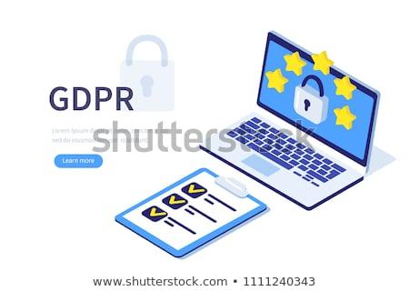ベクトル · 南京錠 · 一般的な · データ保護 · 規制 · セキュリティ - ストックフォト © rastudio