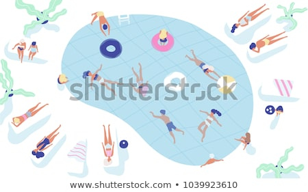 water activity sunbathing and swimming vector stock photo © robuart