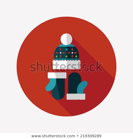 Foto stock: Set Of Warm Winter Clothes Design Pattern