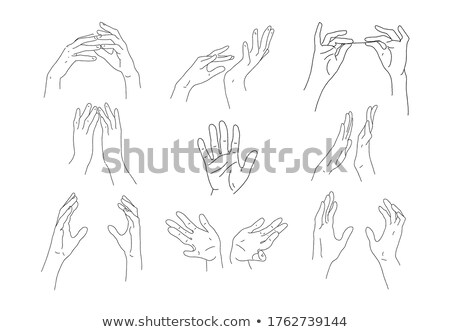 Male Hand Make Gesture Palm Finger Doodle Vector Stock photo © pikepicture