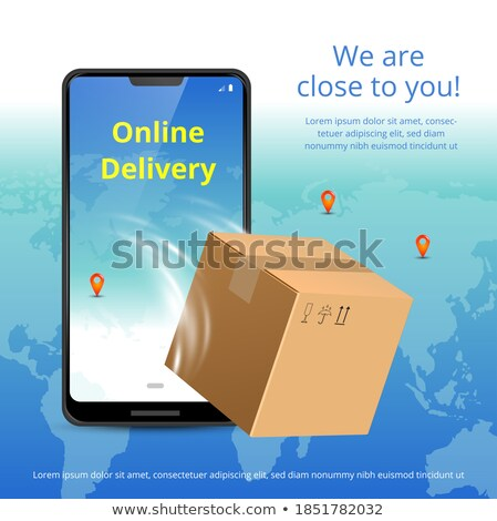 Express delivery service concept landing page. Stock photo © RAStudio