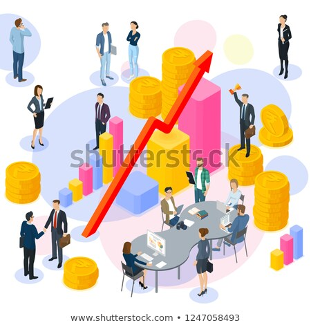 Wealth Management People with Infographics Web Stock photo © robuart